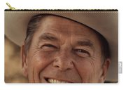 Ronald Reagan In 1976 At His Home At Rancho Del Cielo Carry-all Pouch