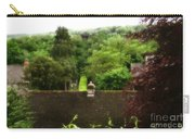 Roof Tops In Countryside Scenery With Trees - Peak District - England Carry-all Pouch