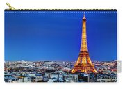 Rooftop View On The Eiffel Tower Carry-all Pouch