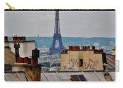 Rooftops Of Paris And Eiffel Tower Carry-all Pouch