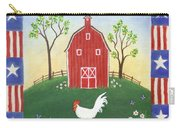 Rooster Americana Carry-all Pouch by Linda Mears