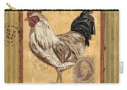 Rooster And Stripes Carry-all Pouch by Debbie DeWitt
