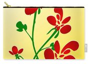 Rooster Flowers Carry-all Pouch