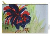Rooster - Red And Black Rooster Carry-all Pouch