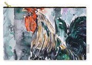 Rooster  Carry-all Pouch by Zaira Dzhaubaeva