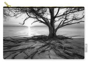 Roots Beach In Black And White Carry-all Pouch