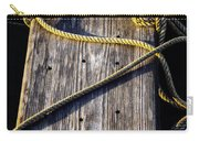 Rope And Wood Sidelight Textures Carry-all Pouch