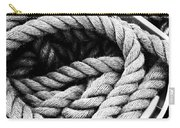 Rope Black And White Carry-all Pouch