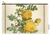 Rosa Sulfurea -yellow Rose  Vertical Carry-all Pouch