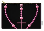 Rosary With Pink And Purple Beads Carry-all Pouch