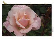 Rose And Rain - Pale Pink Raindrops Carry-all Pouch