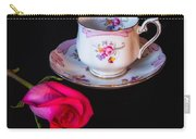 Rose And Tea Cup Carry-all Pouch