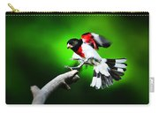 Rose Breasted Grosbeak Landing Carry-all Pouch