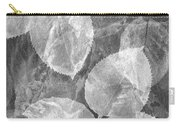 Rose Clippings Mural Wall 2 - Black And White Carry-all Pouch