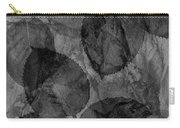 Rose Clippings Mural Wall - Black And White Carry-all Pouch