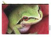 Rose Frog Carry-all Pouch