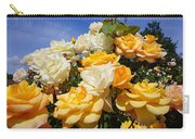 Rose Garden Art Prints Yellow Orange Rose Flowers Carry-all Pouch