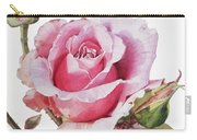 Watercolor Of Pink Rose Grace Carry-all Pouch