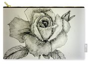Rose In Monotone Carry-all Pouch