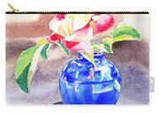 Rose In The Blue Vase  Carry-all Pouch