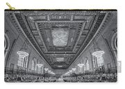 Rose Main Reading Room At The Nypl Bw Carry-all Pouch