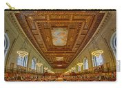Rose Main Reading Room At The Nypl Carry-all Pouch
