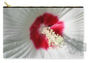 Rose Mallow - Honeymoon White With Eye 01 Carry-all Pouch