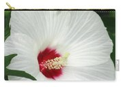 Rose Mallow - Honeymoon White With Eye 05 Carry-all Pouch