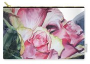 Watercolor Of A Bouquet Of Pink Roses I Call Rose Michelangelo Carry-all Pouch