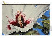 Rose Of Sharon Carry-all Pouch by Karen Beasley