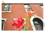 Rose On Brownstone Carry-all Pouch
