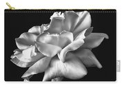 Rose Petals In Black And White Carry-all Pouch