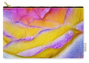Rose With Dew Drops In Candy Colors Carry-all Pouch
