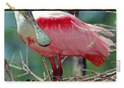 Roseate Spoonbill Adult In Breeding Carry-all Pouch