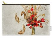 Rosehips And Grasses Carry-all Pouch