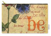 Roses And Butterflies 1 Carry-all Pouch by Debbie DeWitt