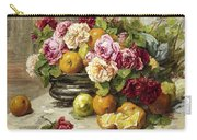 Roses And Fruit Carry-all Pouch