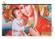 Roses And Holy Family Carry-all Pouch