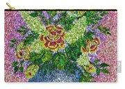 Roses And White Lilacs Lacy Bouquet Digital Painting Carry-all Pouch