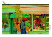 Roses At The Flower Shop Fleuriste Coin Vert Rue Notre Dame Springtime Scenes Carole Spandau Carry-all Pouch