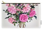 Roses In A Glass Jar  Carry-all Pouch by Christopher Ryland