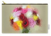 Roses In A Vase 1 Carry-all Pouch