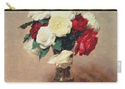 Roses In A Vase With Stem Carry-all Pouch