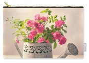Roses In Watering Can Carry-all Pouch