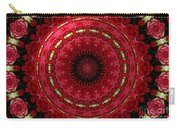 Roses Kaleidoscope Under Glass 12 Carry-all Pouch