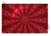 Roses Kaleidoscope Under Glass 26 Carry-all Pouch