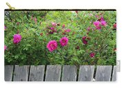 Roses On A Fence Carry-all Pouch