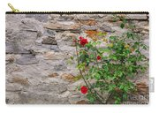 Roses On A Stone Wall Carry-all Pouch