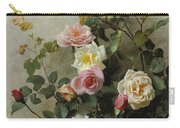 Roses On A Wall Carry-all Pouch