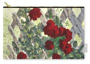 Roses On Lattice Carry-all Pouch